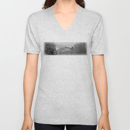 Winter's View of Roundtop Unisex V-Neck