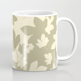 Envelope leaves decor. opposite.oive-green. off-white. Coffee Mug