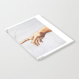The Creation of Adam by Michelangelo Fingers Notebook