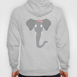 Elephant head with pink ribbon T-Shirt Hoody