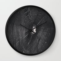 spider Wall Clocks featuring Spider by LadyJennD