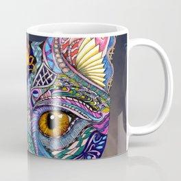 Mystic Psychedelic Cat Coffee Mug