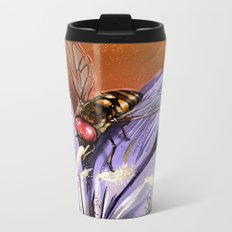 Fly on flower 10 Metal Travel Mug