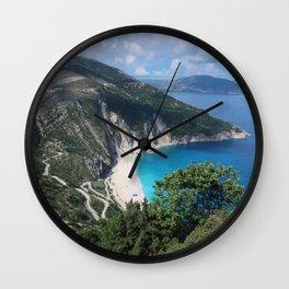 Myrtos beach, Kefalonia - Greece Wall Clock