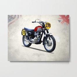 The Steve McQueen ISDT Motorcycle 1964 Metal Print