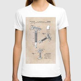 patent art Shnitzler Quick Opening safety razor 1955 T-shirt