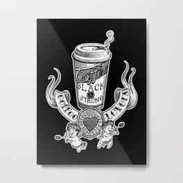 Coffee Lovers (black version) Metal Print