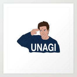 UNAGI ROSS Art Print