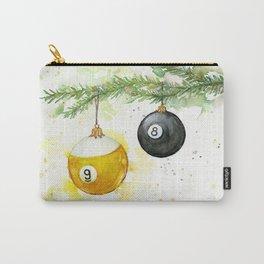 Billiard Pool Balls Christmas Ornaments 8-Ball 9-Ball Carry-All Pouch