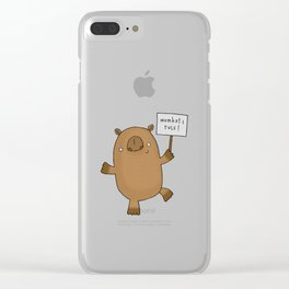 Womats Rule! Clear iPhone Case