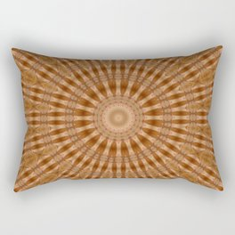 Kaleidoscope Brown Circle and Stripes Pattern Rectangular Pillow