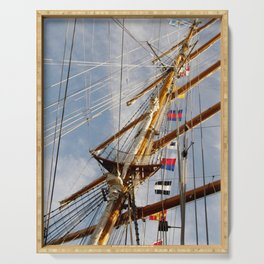 Frigate Flags Serving Tray