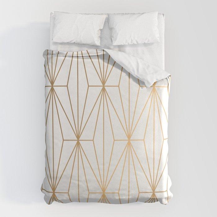 Gold Geometric Pattern Illustration Bettbezug