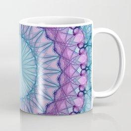 Pretty blue and pink mandala Coffee Mug