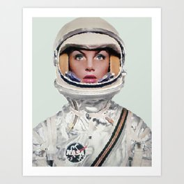 Nasa Woman Astronaut Art Print