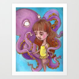Octo Girl Art Print