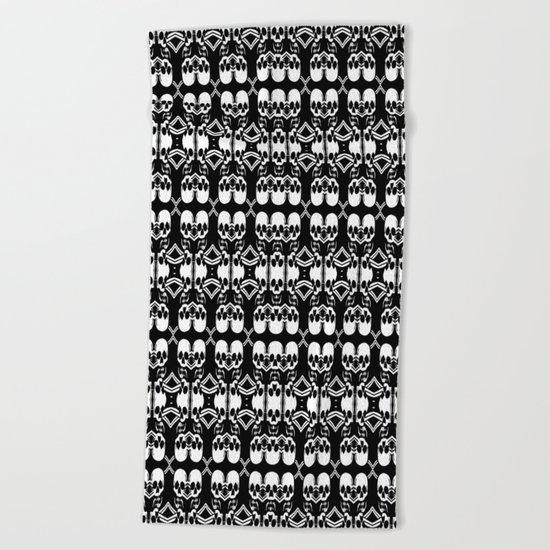 Saber Skulls (Smaller) Beach Towel