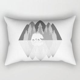 Gray Mountains and Bear Rectangular Pillow