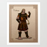 valar morghulis Art Prints featuring Tulkas by wolfanita