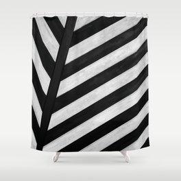 b&w stripes Shower Curtain