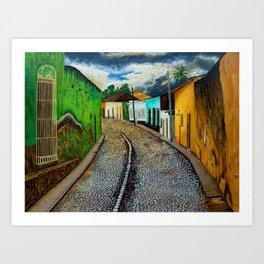 Trinidad Cuba Original Oil Painting 16x12in Art Print