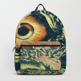 Buho owl animal graffiti drawing Backpack