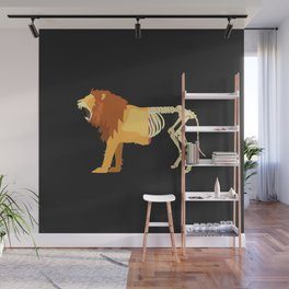 Lion Life-Death Wall Mural