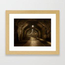 Headstone Tunnel Framed Art Print