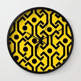 Ethnic Pattern (Yellow) Wall Clock