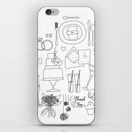 weeding doodle iPhone Skin