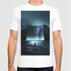 Cosmic Mirror White LARGE Mens Fitted Tee