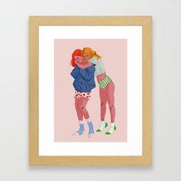 Soft girlfriends Framed Art Print
