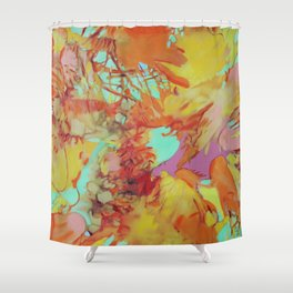 Orange is the New Orange Shower Curtain