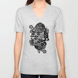 Hungry Gears (negative) Unisex V-Neck