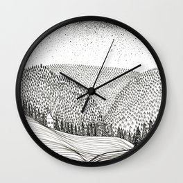 Cliche Cabin in the Woods Wall Clock