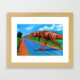 Its a long way from Amphioxus to the meanest human cuss Framed Art Print