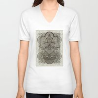 chakra V-neck T-shirts featuring Second Chakra by Work the Angle