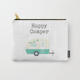 Happy Camper White Carry-All Pouch