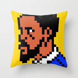 Django pixel portrait Throw Pillow
