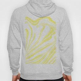 Yellow Marble Ink Watercolor Hoody