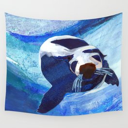 Swimming Seal Wall Tapestry