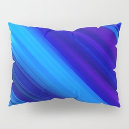 Abstract watercolor colorful lines painting Pillow Sham