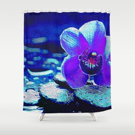 Spreckled Orchid Shower Curtain