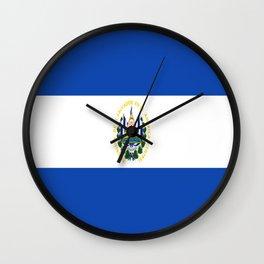 Flag of salvador - salvador,Salvadoran,San Salvador,salvadoreño,Guanaco. Wall Clock