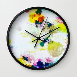 Abstract Paint Splatter Art Wall Clock