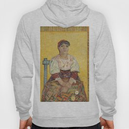 The Italian Woman by Vincent van Gogh, 1887 Hoody