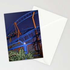 roller coaster by night Stationery Cards