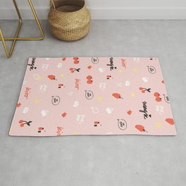 Girl In Love Pattern Rug
