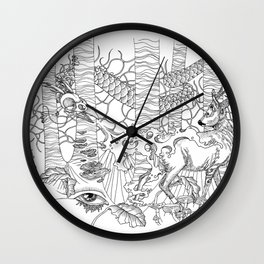 Freaky Forest Wall Clock