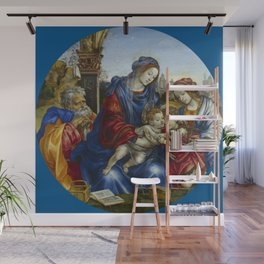 "Filippino Lippi ""The Holy Family with Saint John the Baptist and Saint Margaret"" Wall Mural"